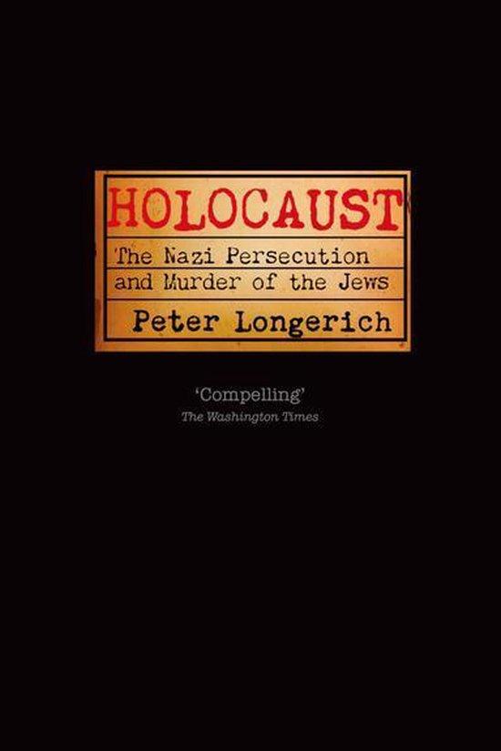 Boek cover Holocaust van Peter Longerich (Onbekend)