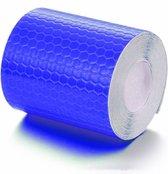 Reflecterende Sticker Tape - Blauwe reflectie plakband op rol van 200x5cm.
