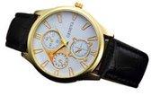 malloom Horloge - Wit/Zwart