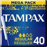 Tampax Regular Tampons - 40 Stuks - Met Inbrenghuls