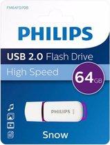 Philips SNOW USB-stick 64 GB USB 2.0 Paars FM64FD70B/00