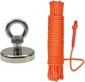 Forcemagneten - Vismagneet 50kg - Inclusief touw
