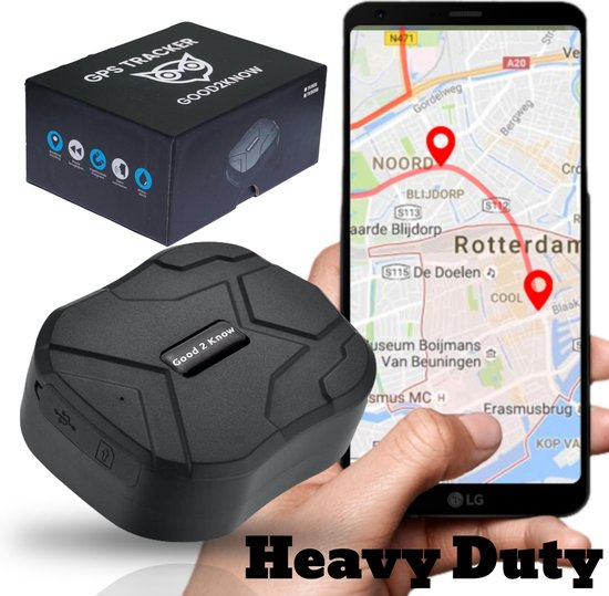 Good2Know GPS tracker –– Inclusief Simkaart & Zonder Abonnement – Heavy Duty...
