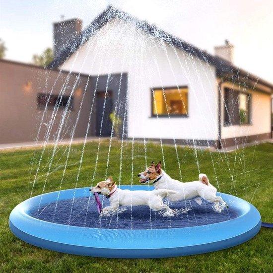 Hondenzwembad / kinderzwembad - Baby of honden zwembad opblaasbaar - kinder / hondenbad inclusief fontein - kinderbad speelgoed - peuter zwembad 120 x 30 cm