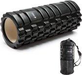 SWILIX ® Foam roller - Fitness Roller - Zwart -  incl. Draagtas