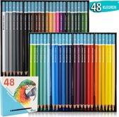 Kleurpotloden voor Volwassenen van Diamond Hobbies | 48 kleuren | Kleuren op  Nummer | Potloden | Potloden set | Tekendoos voor Volwassenen | Kleuren op Numm3r