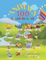 100 Animals Coloring Book For Kids