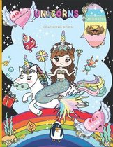 Unicorn coloring book for kids 4-8