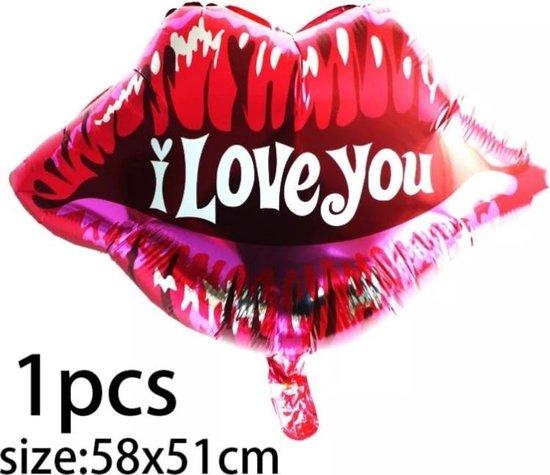 Ballon Kus I Love You, folieballon, liefde, Kindercrea
