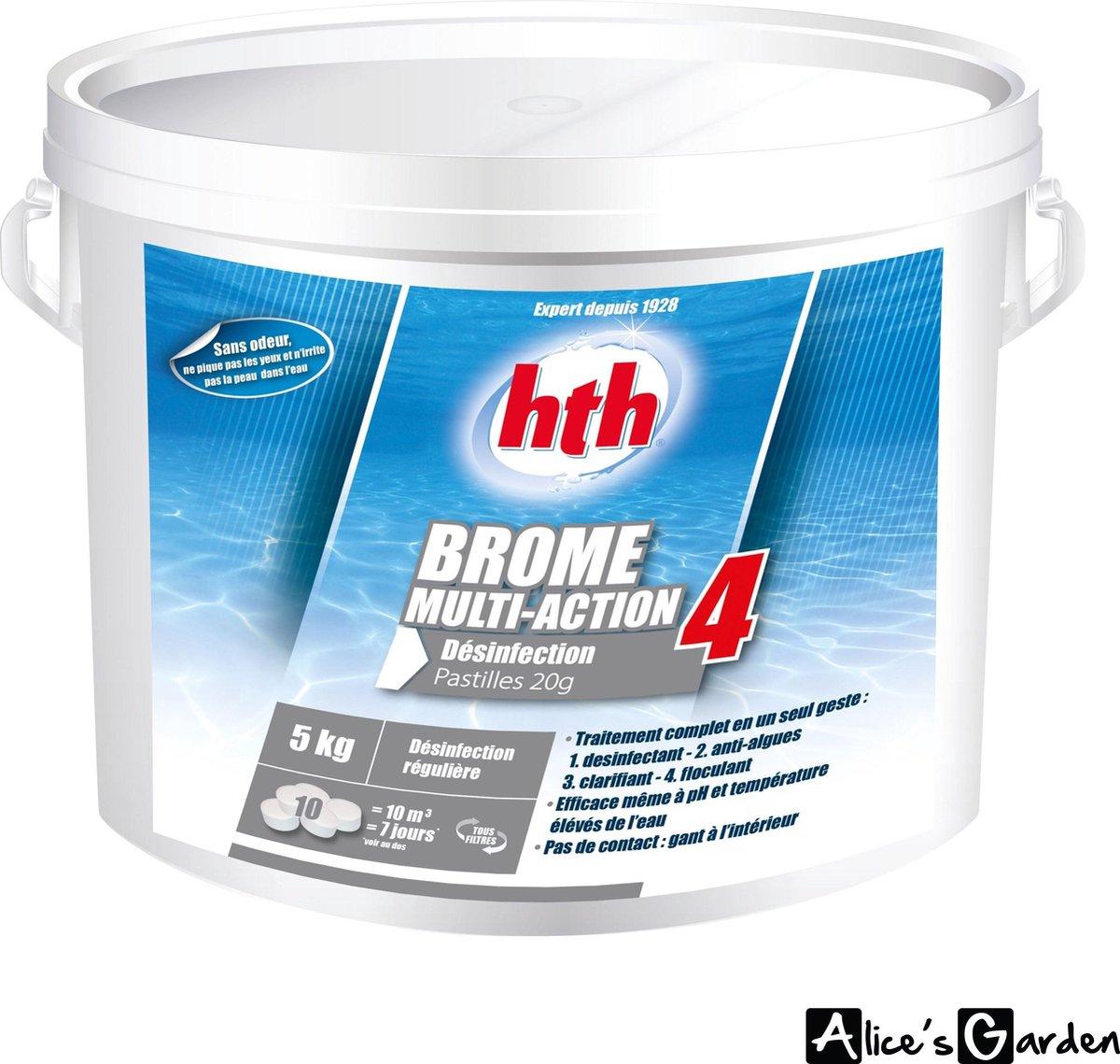 4-in-1 20g broomtabletten voor spa, +/- 250 tabletten (ontsmettingsmiddel, algicide, klaringsmiddel en flocculant)