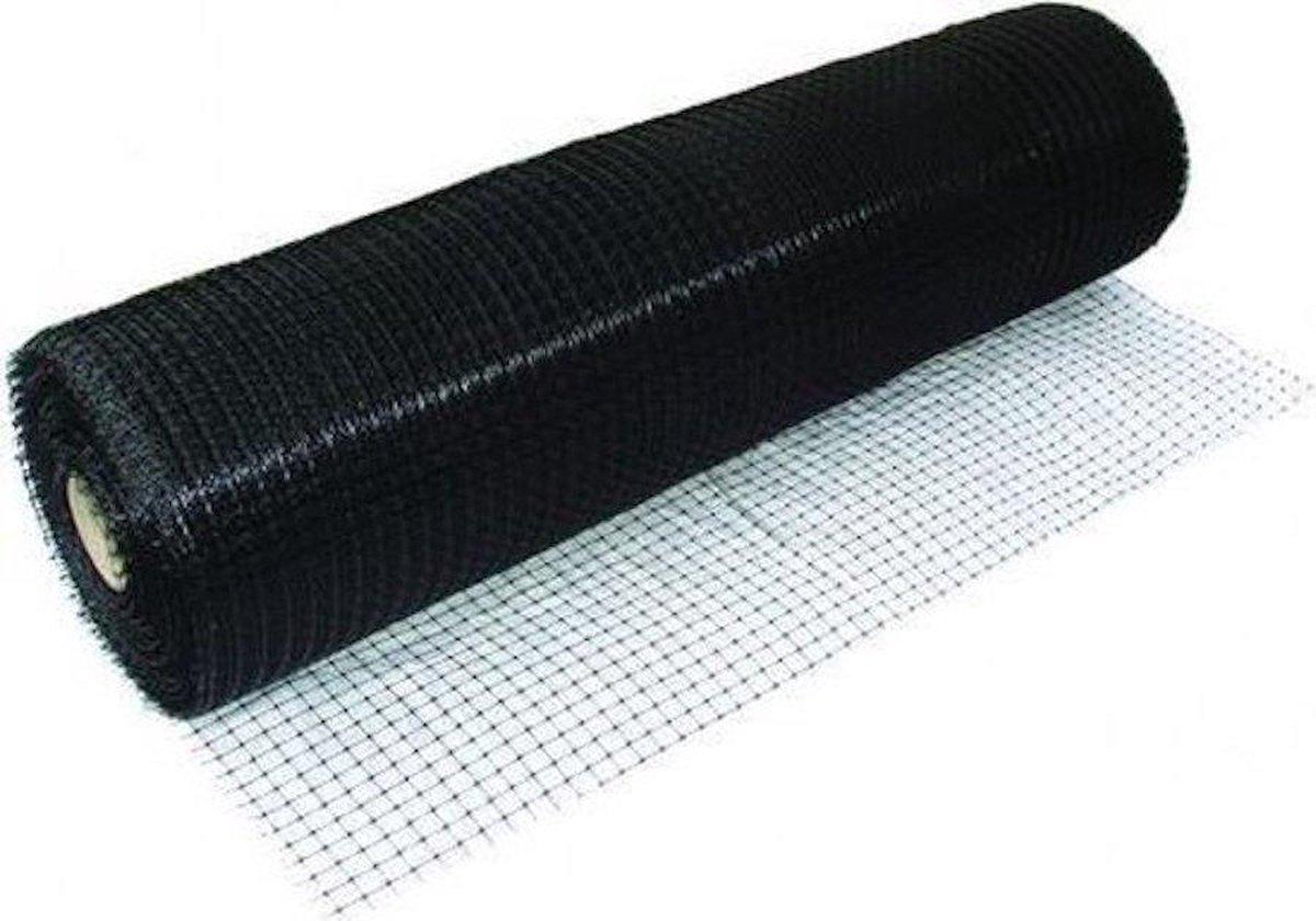 Voli regaas zwart 2 meter breed en 5 meter lang. Multifunctioneel toepasbaar gaas.