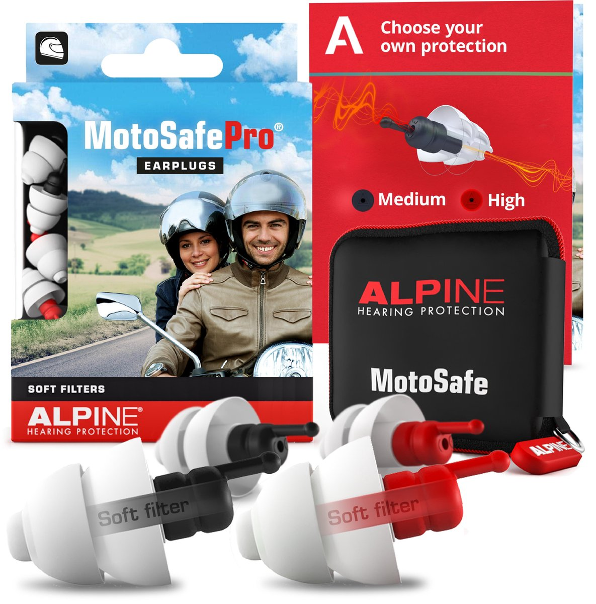 Alpine MotoSafe Pro - Motor oordoppen - Gehoorbescherming Race en Tour - Wit - 2 sets