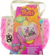 Bonte kindertas - Trolls - Zelf maken - Kleuren - Creatief - met viltstiften