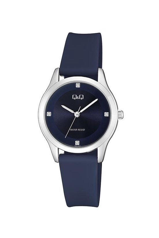 Donker Blauw Q&Q dames horloge QZ51J312