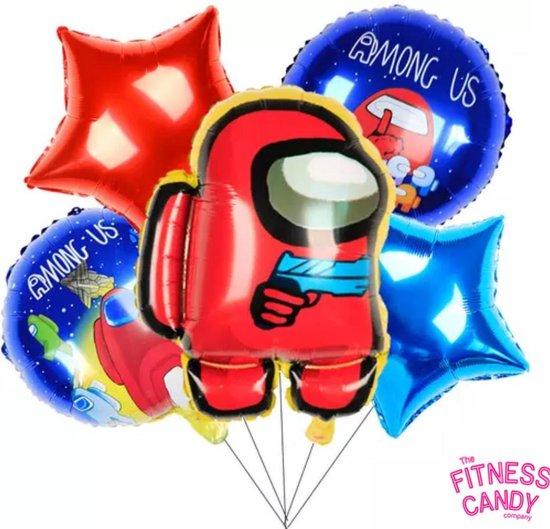 Among Us - luxe ballonnen - Set van 5 - 57x47 CM