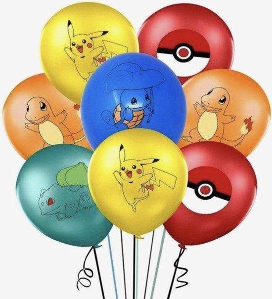 Pokemon ballonnen, Pikachu 10 stuks. Pokémon ballon , verjaardag