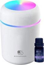 Aroma Dream Diffuser Luchtbevochtiger Wit 300 ML incl. Lavendel olie & E-book voor Aromatherapie – Humidifier