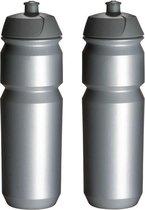 2 x Tacx Shiva Bidon - 750 ml - Zilver - Drinkbus