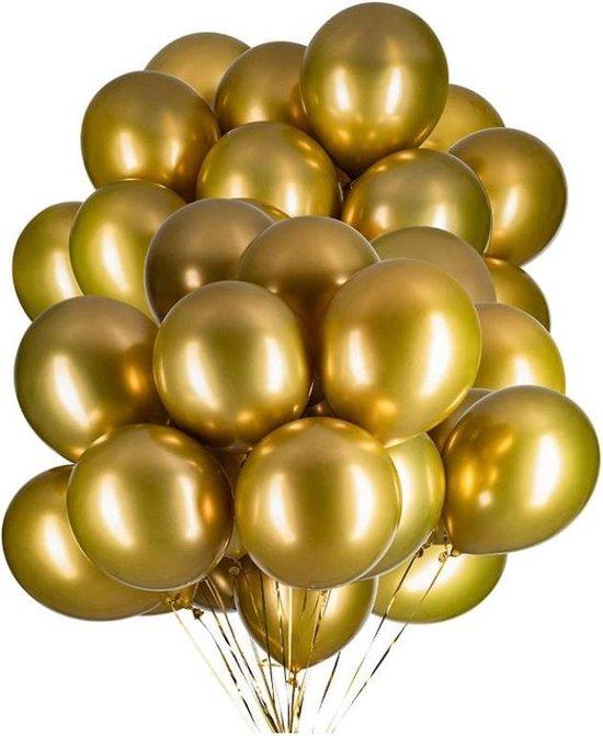 20 Metallic Ballonnen - Gold - 30 cm - Latex - Chroom - Verjaardag - Feest/Party - Ballonnen set -