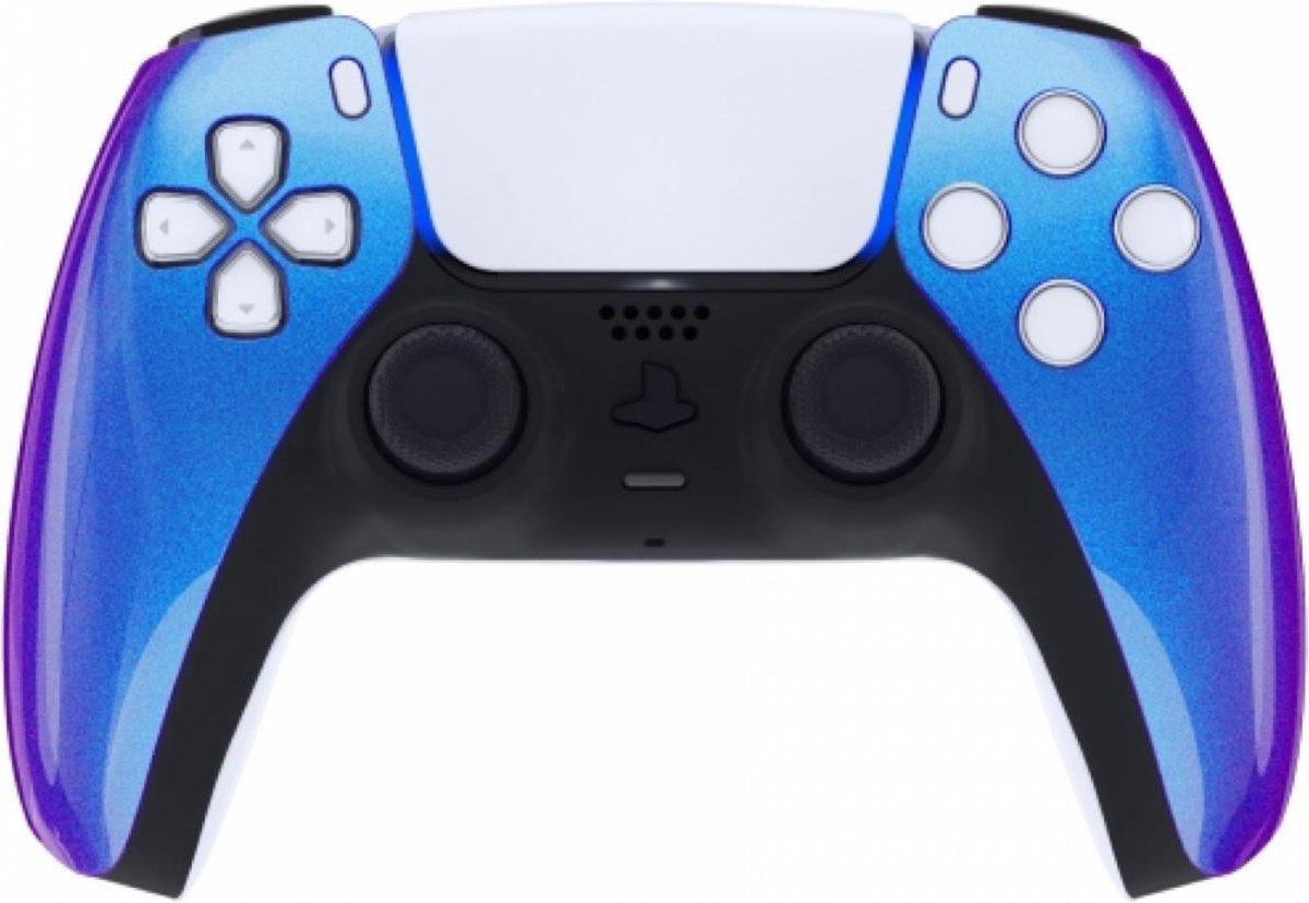Sony PS5 DualSense Draadloze Controller – Blauw / Paars Metallic Front Custom