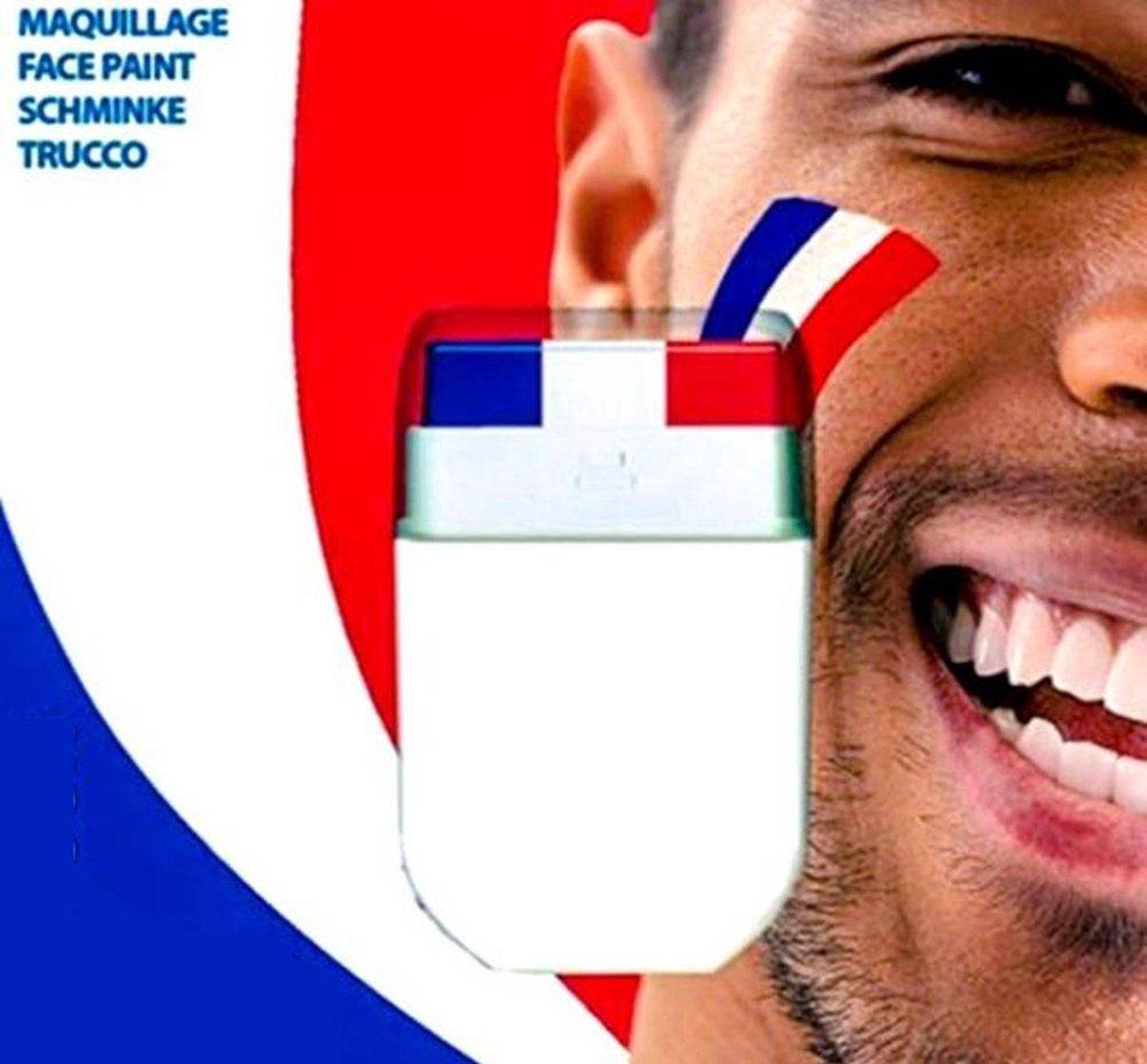 Schminkstift Nederland rood wit blauw - Holland supporter/ Koningsdag
