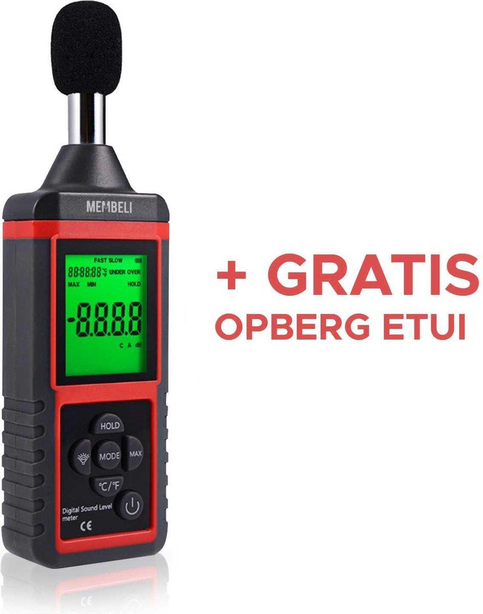 Mini Digitale Decibelmeter 30 dB tot 130 dB - Kleine Db Meter - Geluidsmeter - 31.5 Hz tot 8 KHz - L
