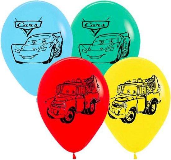 ProductGoods - 10x Cars Ballonnen Verjaardag -Verjaardag Kinderen - Ballonnen - Ballonnen Verjaardag - Cars - Kinderfeestje