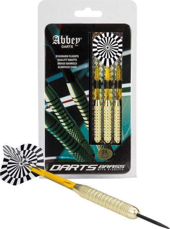 Afbeelding van Abbey Darts Darts - Brass - Zwart/Wit - 24 speelgoed