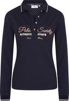 """HV Polo Dames Poloshirt """"Authentic Sports"""" Donkerblauw"""