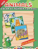 New Animals Color By Number For Kids 50 Fun Animals