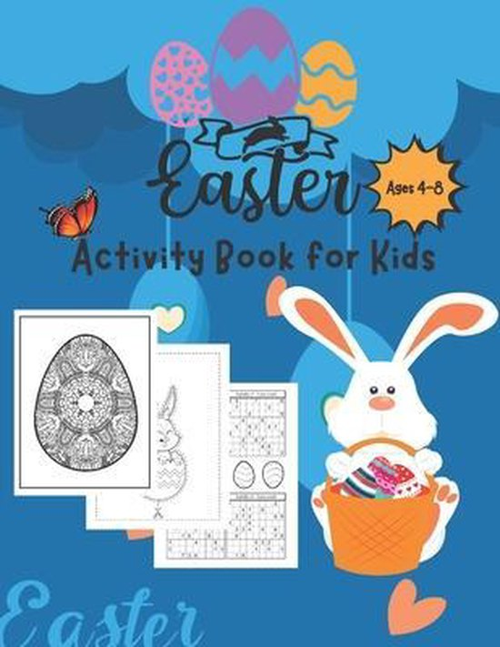 Easter Activity Book for Kids (Ages 4-8)