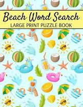 Beach Word Search Large Print Puzzle Book