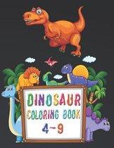 Dinosaur coloring Books 4-9