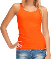 Sols Oranje tanktop / hemdje - dames - EK / WK voetbal supporter / Koningsdag - katoen - mouwloos t-shirt / tanktops / singlet S