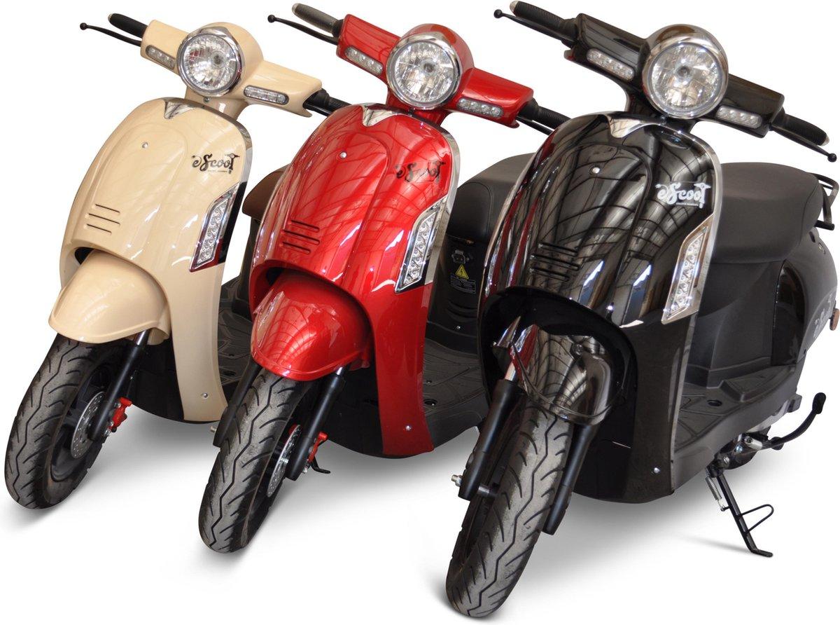 Escoot.be retro zwart *elektrische scooter* 45 km/h - litheum batterij - scooter - brommer
