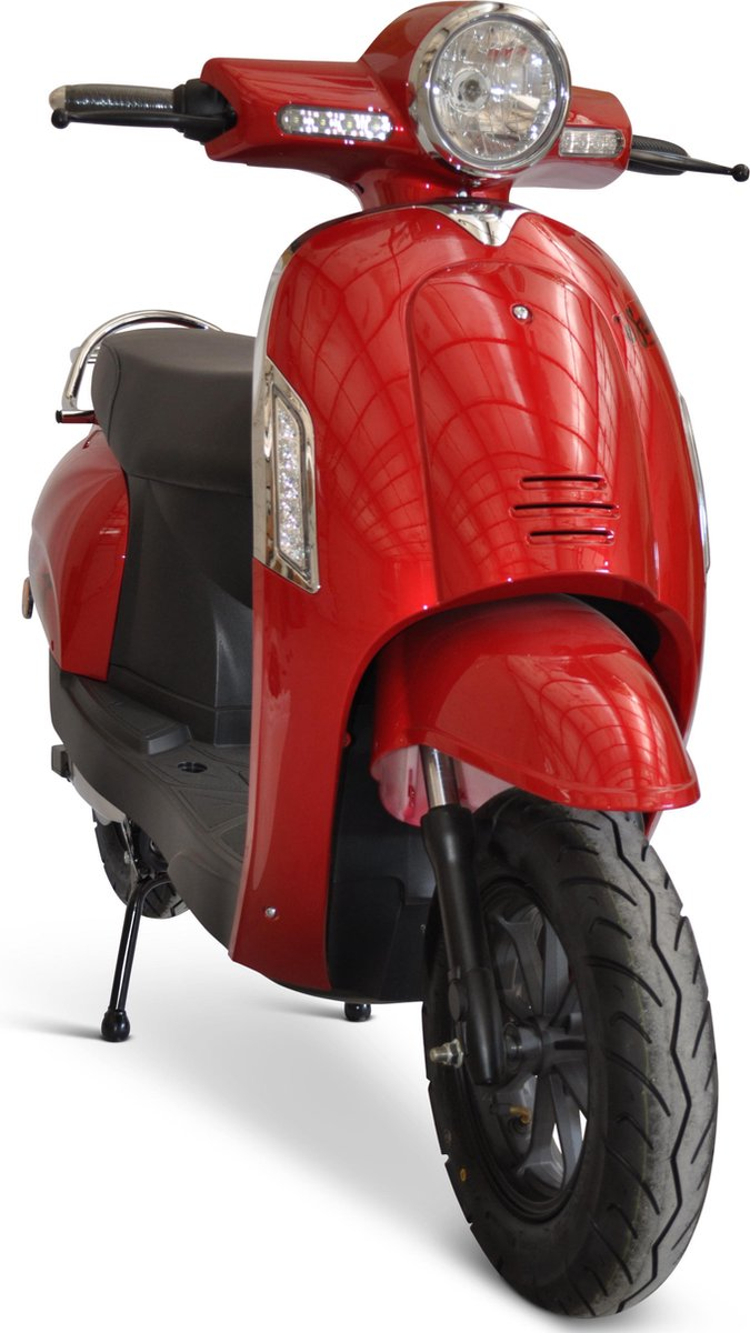 Escoot.be retro rood *elektrische scooter* 45 km/h -  litheum batterij - scooter - brommer