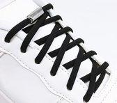 Elastische Veters -  schoenveters - Niet meer strikken - Zwart
