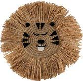 Muurdecoratie Tess Tiger   Kinderkamer   40 cm   100% gras   naturel  Maison Boho Kids