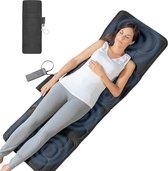Massage Massagekussen SAN Massage Stoel Massagemat 3 Niveaus 5 Massages - Warmtefunctie - 156CM x 54CM - Afstandsbediening - Zwart