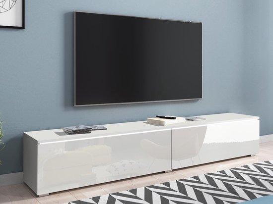 Mobistoxx Tv-meubel Dubai, TV kast Wit / hoogglans wit, tv meubel 180cm