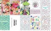 10 Luxe Bedankt Wenskaarten - 12x17cm - Gevouwen kaarten met enveloppen