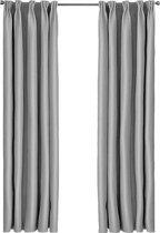 Larson - Luxe blackout gordijn met haak – grijs 1.5x2.5m – Verduisterend & kant en klaar – per stuk