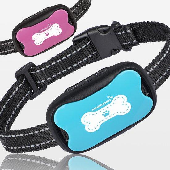 MM Brands Anti Blafband – Anti Blaf Apparaat – Trainingsband voor honden – Trainingshalsband voor hond – Halsband - Diervriendelijk – Vibratie en Ultrasoon Geluid – Roze en Blauw