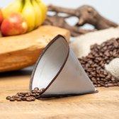 Permanent - Herbruikbaar - Koffie Filter - RVS gaas - Geschikt voor 1-3 kops Chemex