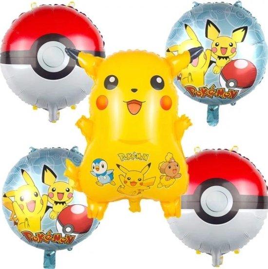 Ballonboeket Pokemon, 5 delig, kindercrea