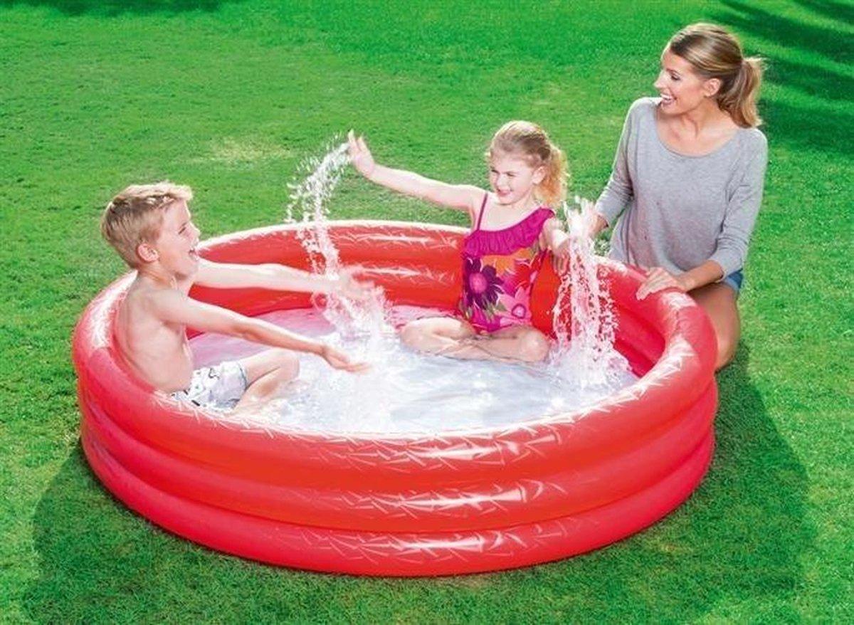 Zwembad rond voor Kinderen en Peuters van Bestway - Rood - 152 x 30 cm - Zwembadje Peuter - Zwembadje Kinderen - Zwembadje Opblaarbaar - Speelzwembad
