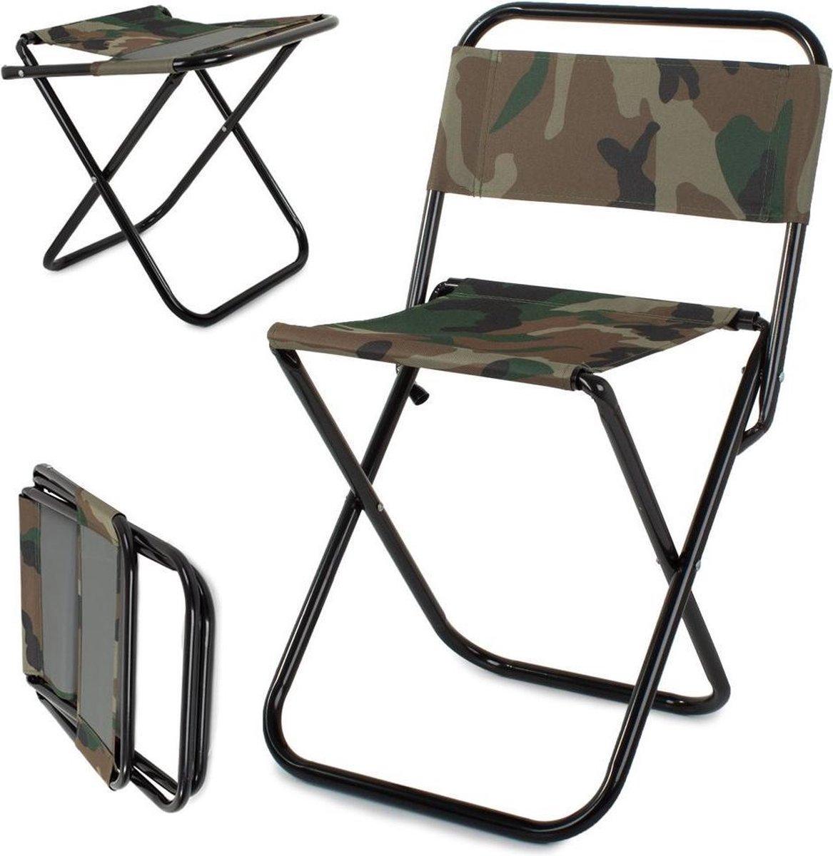 Toeristische vissersstoel krukje- Viskrukje- Visstoeltje- Vissen- Camping Stoeltje-Camping