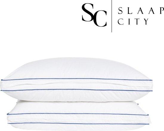 Slaapcity® hoofdkussen - Traagschuim - Hoofdkussen  zijslaper - Hoofdkussens slaapkamer - Hoofdkussen nekklachten