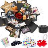 AWEMOZ® Explosion Box - Foto box - Mystery Box - Unieke Geschenkdoos - Explosie box - Foto Doos - Knutselen - Liefdes Cadeau Voor Man En Vrouw - Incl. Kleuren Pennen en Stickervellen - Vaderdag Kados - Vader Cadeautjes