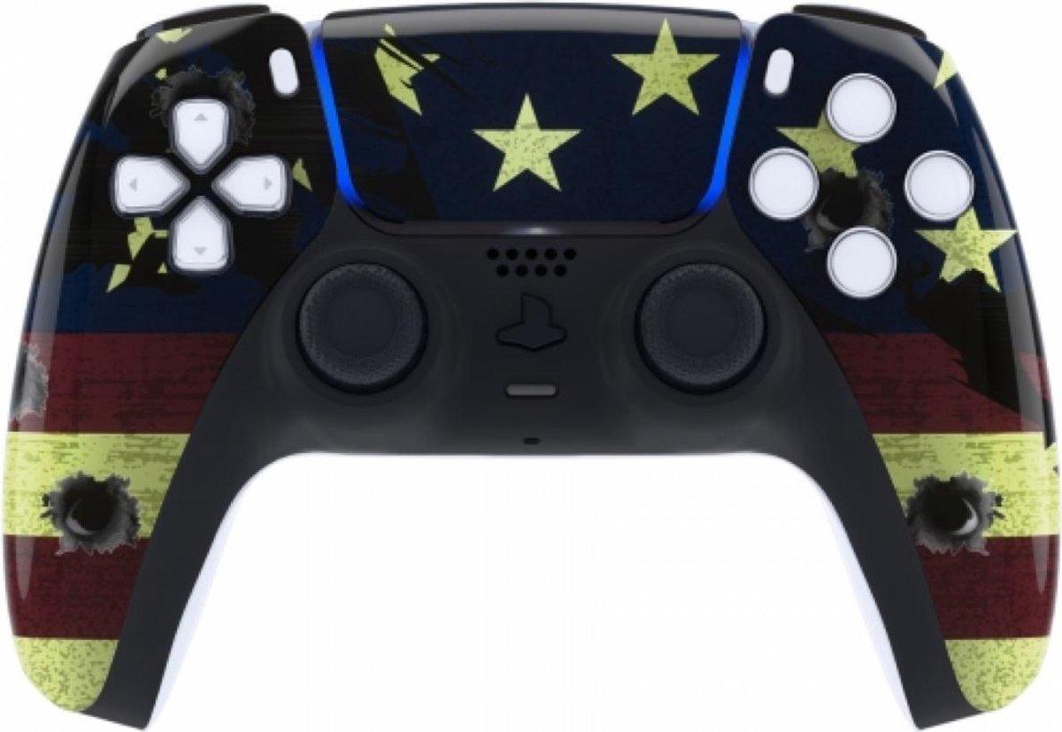 Sony PS5 DualSense Draadloze Controller – US Flag Front Custom